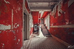 The red house (Thomas Junior Fotografie) Tags: modell portrait people exploration explorer exploring explore rotten ruins ruine treppe urban urbex ue urbaine urbanexplorer italia italy old övergivna places place photography palazzo hdr germany forgotten forsaken forladten fairytale fenster fenetre decay sony scenery abandoned abandonné abbandonata alpha77mii verladten verfall villa verlassen vecchio magic marode maison model rot rouge red rosso stairs stairway