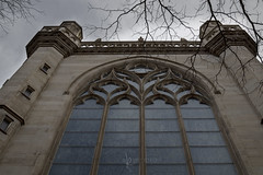 arched windows at Immaculate Conception (Karen Juliano) Tags: windows arched building architecture stone church catholic cathedral