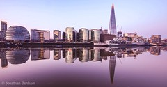 Mirror Image (_Jon Benham_) Tags: hmsbelfast shard thames reflection river london