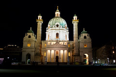 Karlskirche Night (kylewagaman) Tags: karlskirche church cathedral vienna wien austria building architecture österreich dom eglise city europe