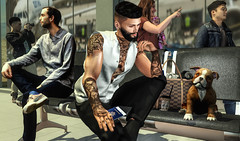 Coming back home (RyanTailor (Taking Clients)) Tags: mesh inworld backdrop focusposes mancave event new bento props passport airport puppy dog animal animals meshpeople gild clefdepeau modulus ar2style tattoo catwa belleza volkstone rezzroom