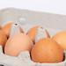 Fresh eggs in a box