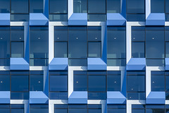 Blue and white facade (Jan van der Wolf) Tags: map19347v facade windows blue amsterdam architecture architectuur gevel gebouw patroon pattern geometric geometry geometrisch