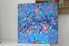 Kasiopea– 80x80cm Acrylic on Canvas by Kinga Ogieglo Interior (Kinga Ogieglo Abstract Art) Tags: abstractart buyart artcollector abstractexpressionism abstractpainting abstractartist artwork artgallery art