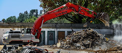 Hungry (Russ Allison Loar) Tags: demolition construction worksite constructionequipment excavation southerncalifornia building housing affordablehousing california losangelescounty dirt soil digging infrastructure infrastructurespending earthmoving crumblinginfrastructure excavator