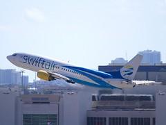 Swift Air                                         Boeing 737                                      N438US (Flame1958) Tags: swiftair swiftairb737 n438us boeing737 boeing b737 737 mia kmia miami airport2 flap flap2019 travel vacation flight flying 170219 0219 2019 9197
