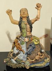 Ceramic Woman Oaxaca Mexico (Teyacapan) Tags: woman mujer clay pottery barro demetriogarciaaguilar artesanias ocotlan oaxaca mexican