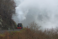 Rugged Wales (gooey_lewy) Tags: vale rheidol vor narrow gauge 2 feet 6 inch steam railway wales great western rail british loco locomotive 7 landscape train engine ft 262t tank livery gwr railways br green coal fired light picturesque tree arrival hill valley 30742 charters rugged