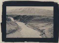 Þórufoss & hill (lawatt) Tags: þórufoss waterfall water river landscape iceland altprocess cyanotype wares toned hahnemuhleplatinumrag