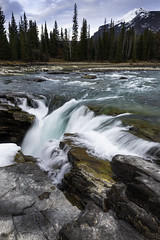 Athabasca Falls (tszonkwanrayray) Tags: waterfalls nature photography longexposure athabascafalls jasper banff nationalpark canada rockymountian nikon d810 landscape seascape