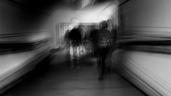 Going with the flow (Zara.B) Tags: journey following blackandwhite blur bw iphone intentionalcameramovement icm impressions light dark abstract people goingwiththeflow