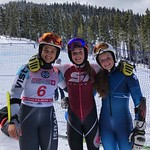 Women GS top 3 - 1 Arianne Forget CAN; 2 Noa Szollos ISR; 3 Britt Richardson CAN