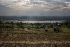 Lake Bunyampaka (pbr42) Tags: africa uganda queenelizabethnationalpark nationalpark hdr water lake crater tree mud bunyampaka h2o people sky cloud