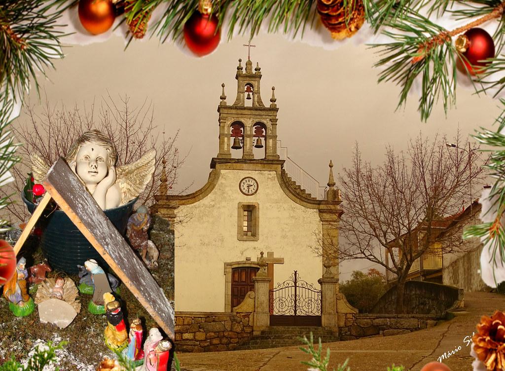 Águas Frias (Chaves) - o presépio e a igreja matriz - Natal