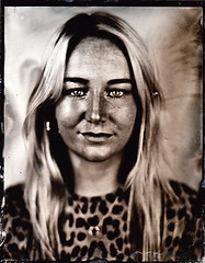 Molly (fitzhughfella) Tags: wetplate tintype tinplate collodion ether silvernitrate graflexspeedgraphic kodakaeroektar largeformat 4x5 darkroom