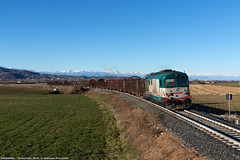 Ritorno in Verzuolandia (Damiano Piovanelli) Tags: treno treni ferrovie ferrovia d4451121 d445 d445xmpr verzuolo cuneo mercitalia ferroviedellostato fs mir cargo