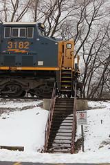 The nurses' stairs (DonnieMarcos) Tags: m337 cn canadiannational rail railroad railway railfan railfanning rails trains train freighttrains freight freighttrain freeport freeportsub cnfreeportsub cnr cnm337 cnm33791 m33791 berwyn berwynil chicago