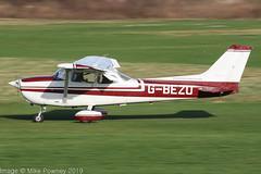G-BEZO - 1976 Reims built Cessna F172M Skyhawk, arriving on Runway 26R at Barton (egcc) Tags: 1392 barton ce172 cessna cessna172 cityairport egcb f172m gbezo lightroom manchester reims skyhawk stavertonflyingschool