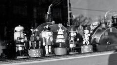 Nutcrackers on Guard (Bill Smith1) Tags: believeinfilm billsmithsphotography hc110b65min20c heyfsc kodaktrix400 nikkorai50f2lens nikonfm toronto
