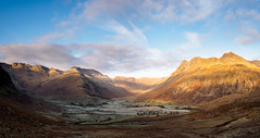 Langdale panorama (Alf Branch) Tags: landscape lakes lakedistrict lakesdistrict leicadg818mmf284 alfbranch cumbria clouds cumbrialakedistrict mountains langdale langdalepikes cold morning olympus omd olympusomdem5mkii