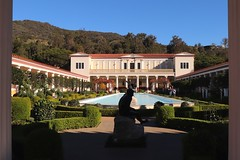The Getty Villa ~ Malibu (Prayitno / Thank you for (12 millions +) view) Tags: getty villa malibu mansion big house tourist attraction point interest sunny clear blue sky day hill mountain pool water outdoor activity tour courtyard manicured well maintain yard beautiful luxury beauty rich famous people residence residential statue art work shrubs framed photography roman architect