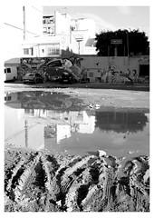 Fango (MartaLucchini) Tags: fango pozzanghera valencia streetphotography pool water sky bw blackandwhite blackwhite