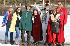 2019 Whitefish Winter Carnival Royalty (wyojones) Tags: montana whitefish feburary wintercarnival woodstockwhitefish randomhippie photobomb princessfreya paytonreisinger princefreya maxgrimes duchessoflark christinerossi kingullrlx paulcoats queenofsnows primeminister kanyonsmith royalty lxwintercarnival pose floatgrandwintercarnivalparade woman man girl boy guy beard hat tiara crown brunette grayhair silverhair cape jacket snow sunglasses patriciaryan