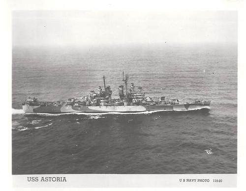 USS Astoria (CA-34), Heavy Cruiser, WWII