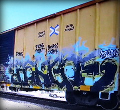 rangoe (timetomakethepasta) Tags: rangoe freight train graffiti art railbox boxcar