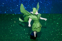 Forest Fairy (Ivan Danny) Tags: fairy forest origami green blue sculpture creature butterfly design paper craft kraft christmas