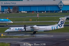 """Flybe G-ECOA Bombardier Dash 8 Q400 (IMG_2542) (Cameron Burns) Tags: flybe be gecoa bombardier bombardierdash8q400 bombardierq400 bombardierdash8 dash8q400 dash 8 q400 sou southampton england uk gb unitedkingdom greatbritain white blue yellow green red purple proppeller amsterdam schiphol airport amsterdamschipholairport """"amsterdam schiphol"""" ams eham airfield aviation aerospace airliner aeroplane aircraft airplane plane canoneos80d canoneos eos80d canon80d canon eos 80d netherlands holland dutch haarlemmermeer """"luchthaven luchthaven europe action"""
