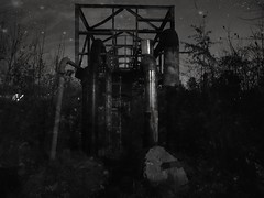 Abandoned installation (wojciechpolewski) Tags: night lights abandoned industry industrial wpolewski stars darkness bw bnw blackandwhite blackwhite blanconegro photo photos