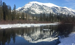 Exploring Canmore Alberta (Mr. Happy Face - Peace :)) Tags: canmore winter hiking mountains snowpeaks reflections nature river forest trees sky cloud albertabound canada rockies cans2s art2019
