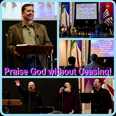Worship Service Ad:  Praise God without Ceasing (nomad7674) Tags: 2019 march beacon hill evangelical free church efca ad advertisement diptic diptych grid collage