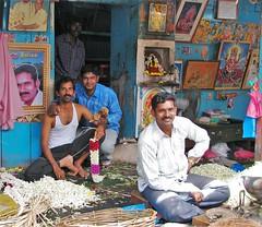 pondicherry (gerben more) Tags: pondicherry southindia people flowers men colours colors moustache india