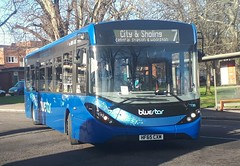 Bluestar 2739 is turning onto Vincent's Walk from Pound Tree Road while on route 7 to City and Sholing via Central Station and Woolston. - HF65 CXM - 9th January 2019 (Aaron Rhys Knight) Tags: bluestar 2739 hf65cxm 2019 vincentswalk poundtreeroad southampton hampshire gosouthcoast goahead alexanderdennis enviro200mmc