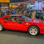 Red Ferrari luxury sports car at the 40th Bangkok International Motor Show at IMPACT Challenger hall in Muang Thong Thani, Nonthaburi thumbnail