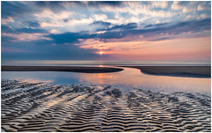 Katwijk beach (Rob Schop) Tags: longexposure 10stopper nd1000 sunset beach lowtide reflection color clouds sonya6000 samyang12mmf20 wideangle hoyaprofilters lrcc