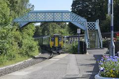 Grosmont station (Johnspics59) Tags: grosmont northyorkshiremoors northernrail class156 railway railwaystation station train england unitedkingdom gb