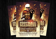 Football Madness flyer (amziz8457) Tags: abstract american art ball champion championship college competition concept cup design download event flyer football game goal graphic league match poster sport sports team template tournament psd