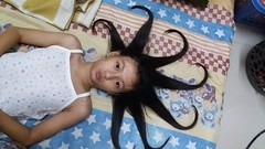 call me medusa :) (ghostgirl_Annver) Tags: asia asian girl annver teen preteen child kid daughter sister family portrait hair medusa