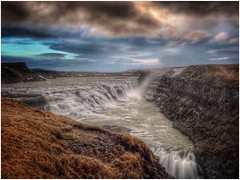 Gullfoss waterfall (Andy Stones) Tags: gullfoss waterfall iceland longexposure wonders rocks nature naturephotography naturelovers water cold winter scenic clouds power tiers natureseekers