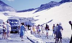 Brave Bikini (zeesstof) Tags: geo:lat=4708082812 geo:lon=1284240041 geotagged zeesstofsmom kodachrome film 35mmslidefilm mamiya 1969 summerholiday mountains alps austrianalps triptothegrossglockner snow snowinsummer fairfriday