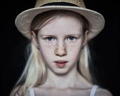 Same hat, different model 1 (PascallacsaP) Tags: hat frontal portrait portraiture kodakportra400nc filmsimulation captureonepro seriouslook windowlight naturallight ambientlight windowlighting mitakon zhongyimitakonspeedmaster35mmf095markii speedmaster 35mm f095 freckles staring