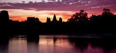Angkor reflection (Jamie B Ernstein) Tags: cambodia angkorwat temple complex sunrise dawn reflection reflexions water lake asia southeastasia nik sillouette colour night dark longexposure
