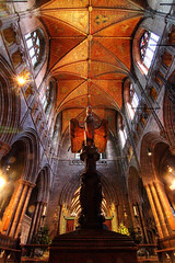 Fly like an Eagle (Idreamofpies) Tags: chester cheshire england uk gb britain cathdral anglican church architecture masonry colums ceiling roof stained glass windows eagle pulpit light apse buttress gothic sandstone