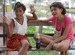 pretty preteen girls (the foreign photographer - ฝรั่งถ่) Tags: pretty preteen girls two khlong lard phrao bangkhen bangkok thailand nikon