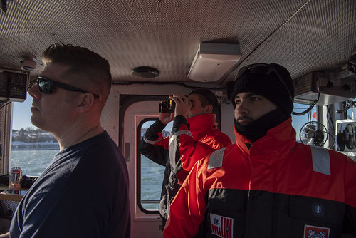 Coast Guard Cutter Pendant breaks ice on Weymouth Fore River