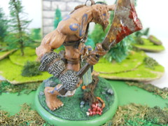gus2 (Giantnerdguy) Tags: giant fantasy miniature mini scarab axe rust gem rocks frog rabbit mushroom moss paint skin loincloth belts skulls chainmail pink brown red white grey green orange nemesismini
