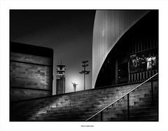For No One ... (michel di Méglio) Tags: olympus zuiko 45mm bw noiretblanc blanckandwhite marseille silverefexpro town ville streetshot rue architecture men stairway escalier